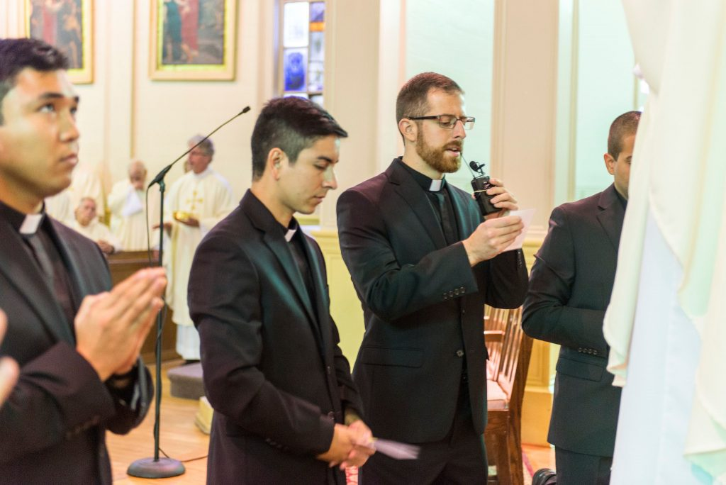 Hinchie professes first vows as a Jesuit.
